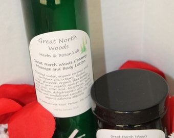 Great North Woods Creamy Body and Massage Lotion -- Just for Him