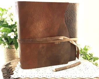Large Leather Journal, Large Blank Journal, Large Leather Diary, Large Handmade Journal