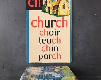 vintage CH vocabulary sound chart