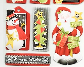 Christmas Chipboard Stickers Forever In Time Scrapbook Embellishments Cardmaking Crafts
