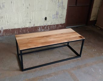 Reclaimed Coffee Table, Modern Industrial, Mid Century- Free Shipping