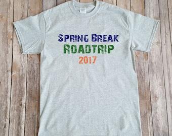 Spring Break 2017 tshirt, men's spring break shirt, college shirt