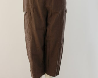 Plain 3/4 Length Shorts (Brown)