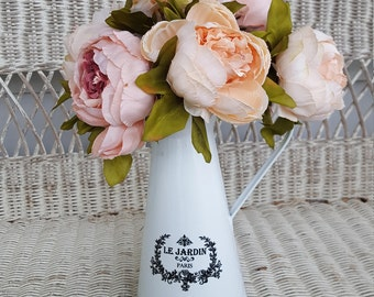 Flower arrangement, farmhouse table centerpiece, Water can, French country cottage decor , floral arrangement, table centerpiece,  country