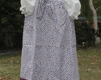 Cute as a Button Rose bud print  peasant dress