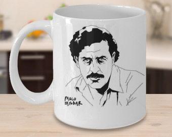 Pablo Escobar Coffee Mug -Plata o Plomo - Unique and Special Coffee Mug - Narcos Series - Espresso Mugs Ceramic Mug - Plato o Plomo