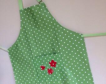 Women's Green Spotty Apron