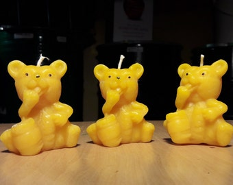 Beeswax candles set of 3
