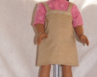 18 Inch Doll Tan and Pink Jumper