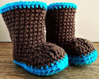 Pattern Only Winter Boot pattern for newborn to 9 months.