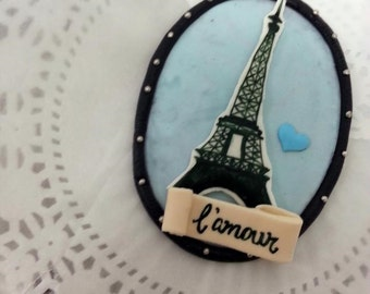 Paris Theme Eiffel Tower Cake Topper ( Paris Cake Topper, Wedding Cake Topper, Paris baby shower, Paris theme, love)