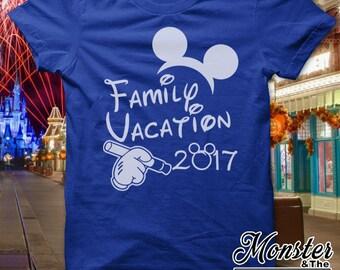 Disney Family Vacation 2017 T-Shirt All Sizes NB - 6X