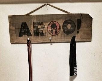 """Spartan Race """"AROO!"""" Medal Display"""
