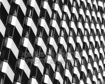 Modern black and white architectural photography. San Francisco print #14