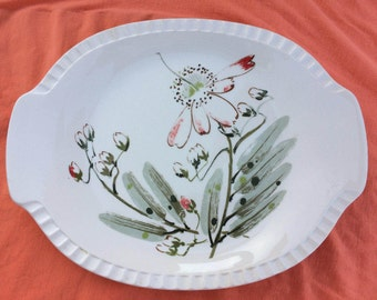 Moon Flower by Salem China Co.  Oval Serving Platter