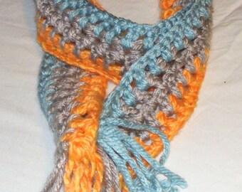 Crochet scarves, Ladies chunky scarf, Multi color,crochet pattern, gift for women, Handmade, neck warmer, Crocheted scarf, Gift for her