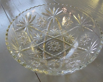 Anchor Hocking EAPC Star Pattern Serving Bowl