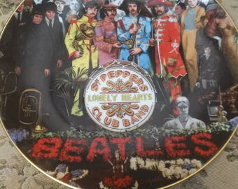 Beatles Commemorative Plate-Sgt. Pepper's 25th Anniversary