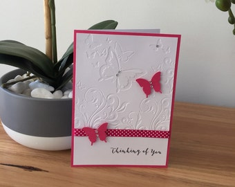 Butterflies and Rhinestones Thinking of You Sympathy Card
