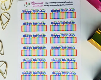 Happy Birthday Planner Stickers