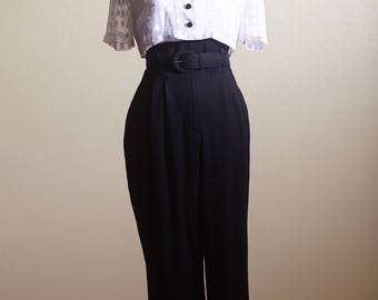 Vintage One Piece Crop Top High Waisted Pants