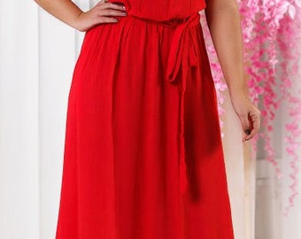 Red Evening Dress For Any Occasion Red Prom Long Evening Wedding Maxi Graduation Bridesmaids  Gown