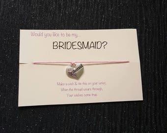 Bridesmaid gifts, wedding gifts, bridal shower, bridesmaid bracelet, gifts for bridesmaid, will you be my bridesmaid gifts, gifts for her