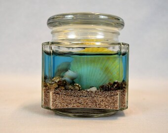 Just Beachy Gel Candle, Seashell Gel Candle