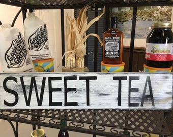 Rustic handmade Sweet Tea country sign