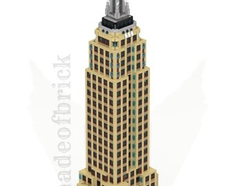 CUSTOM LEGO BUILDING Empire State Building. New York . Usa. (United States of America).  Skyscraper. 42 inches Height