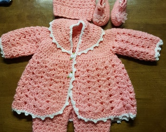 Cotton Candy Winter Suit with hat and shoes