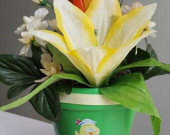 Celebratory Silk Plants for New Baby