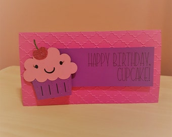Cupcake Girl's Birthday Card