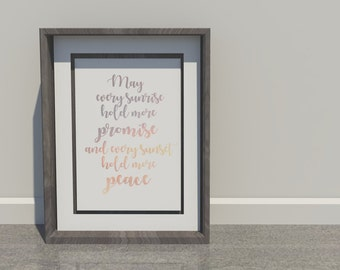 Sunrise Quote / Instant Download / Design / Wall Art