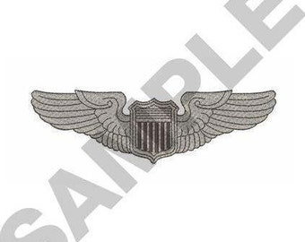 Air Force Wings - Machine Embroidery Design
