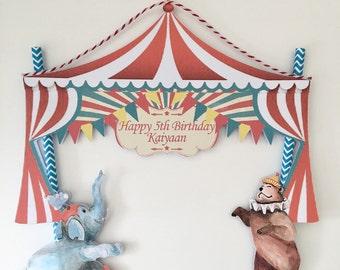 Vintage Circus Cake Bunting