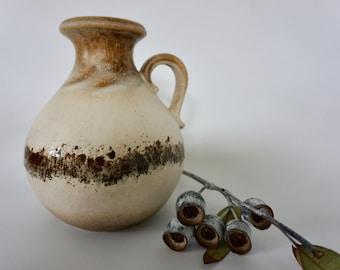 Vintage West German vase in neutral tones