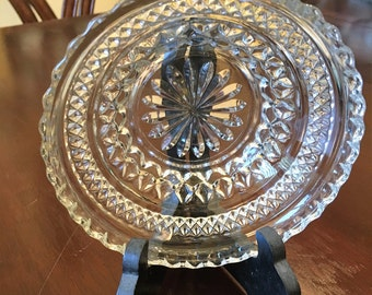 Vintage cut glass candy dish