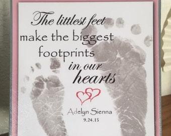Baby Footprints Canvas 6x6