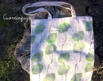 Ginko leaf shopper bag