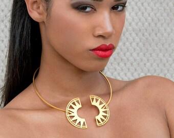 Gold Choker, Choker Necklace, Gold Boho Choker, Gold Choker Jewelry, Gold Bohemian Choker, Boho Choker Gift, Boho Jewelry, Boho Choker