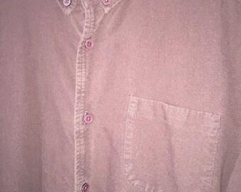 Vintage Dark Maroon Button-down Shirt