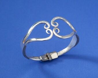 Double Fork Heart Bracelet