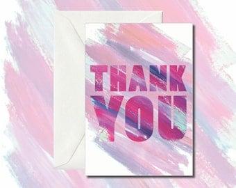 Thank You Card; Greeting Card, Present, Blank Card