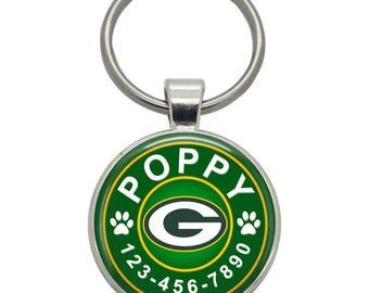 Pet ID Tag - Green Bay Packers - Pet Tags,  Dog Tags, Cat Tags, Dog ID Tags, Cat ID Tags