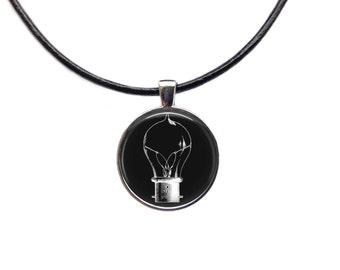 Light bulb jewelry Light bulb necklace Light bulb pendant Steampunk necklace
