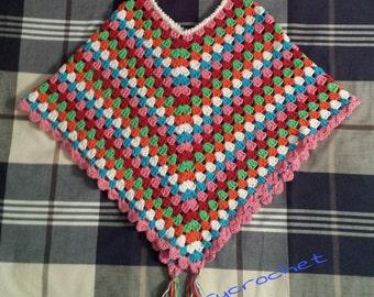 Crochet baby poncho