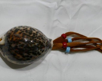 Cowrie Shell Medicine Rattle