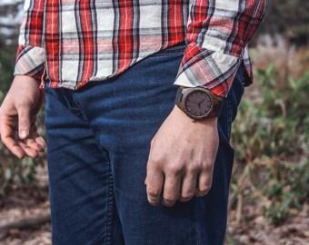 Wooden watch, Wood watch, mens watch, Engraved Wooden Watch, Groomsmen Gift, father day gift, Mens watch, Anniversary Gift, Boyfriend Gift