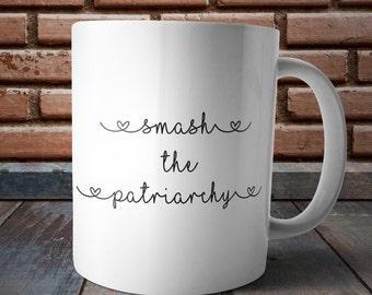 Smash the Patriarchy, Feminist Coffee Mug